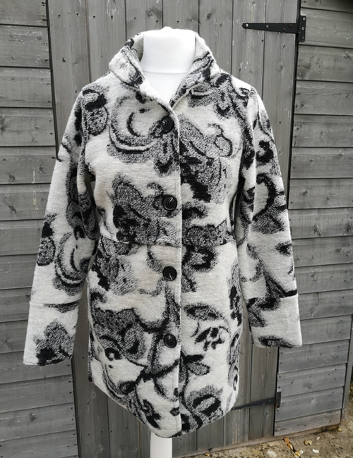 LVE Clothing - Tapestry Print Coat - Front Open