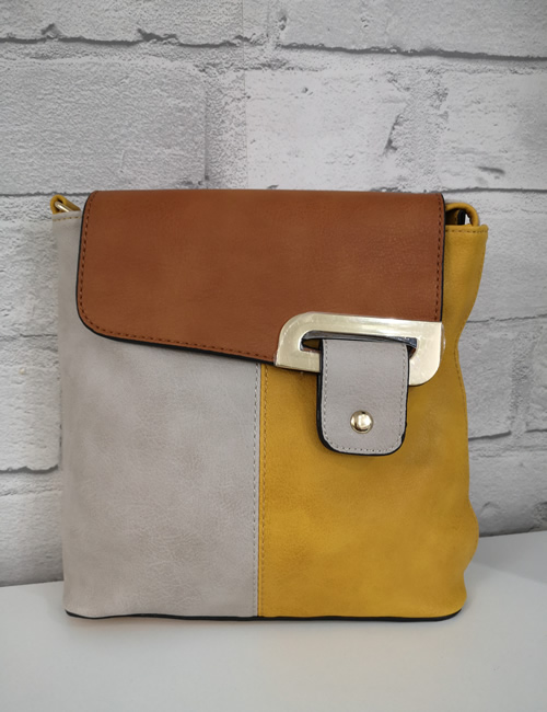 Milan Fashion - 3 Colour Shoulder Bag - Mustard