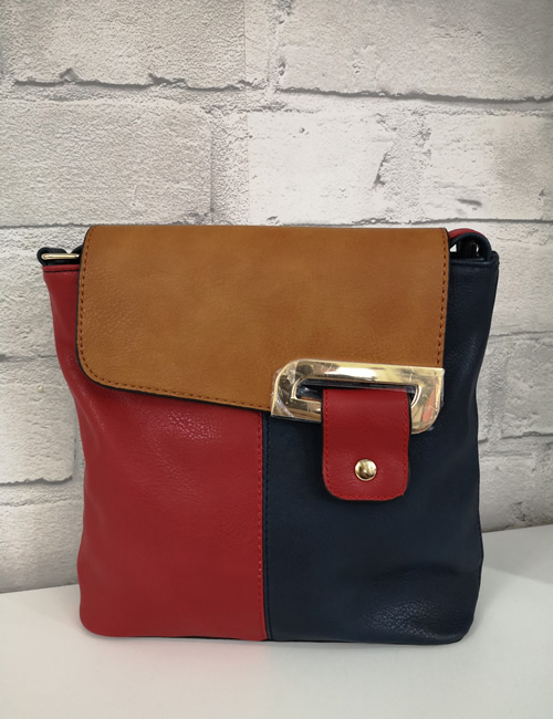 Milan Fashion - 3 Colour Shoulder Bag - Navy