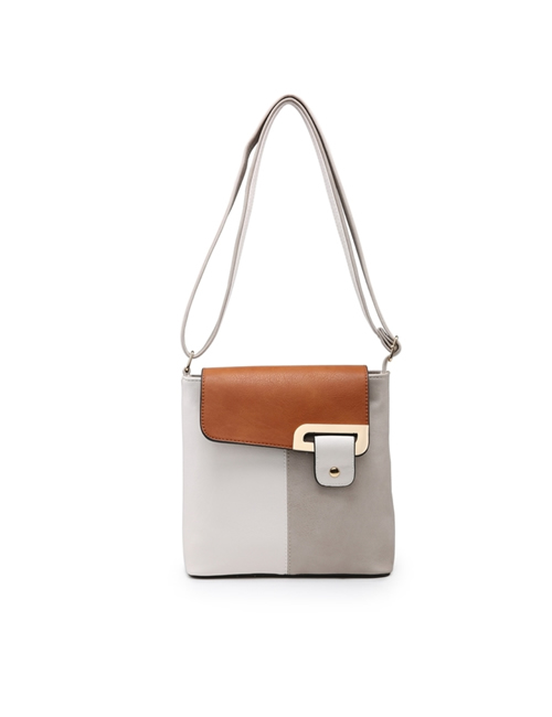 Milan Fashion - 3 Colour Shoulder Bag - Grey