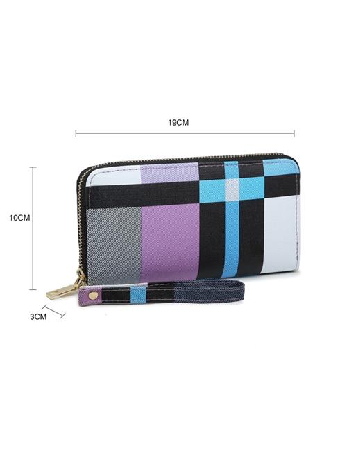 Milan Fashion - Block Colour Purse - Dimensions