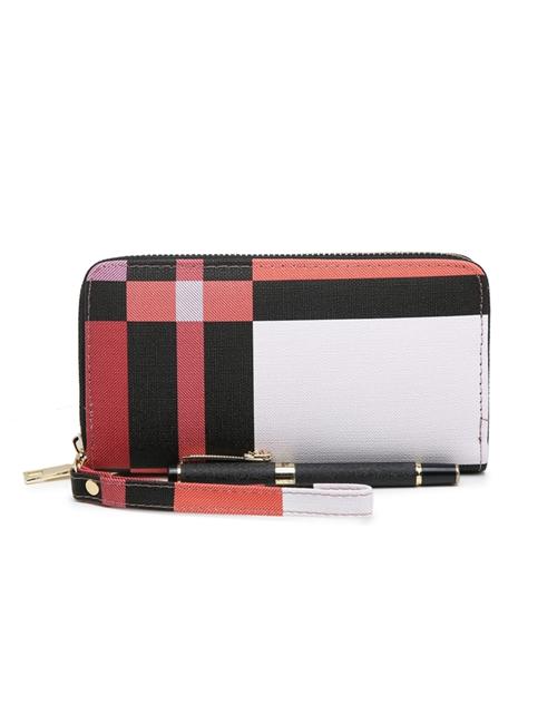 Milan Fashion - Block Colour Purse - Red