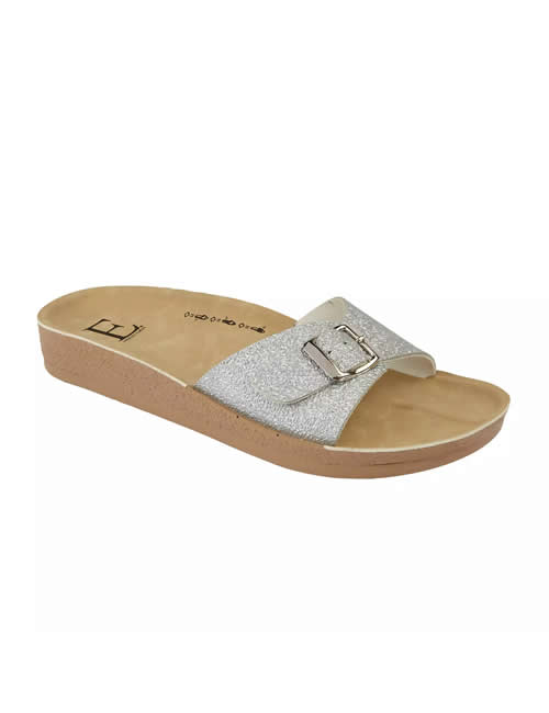 Shoes By Emma - Bermuda Mule Silver
