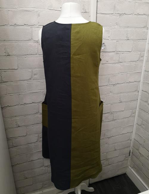 FOIL - Tetris Colour Block Dress - Back