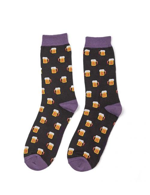 Mr Heron Beer Socks Black