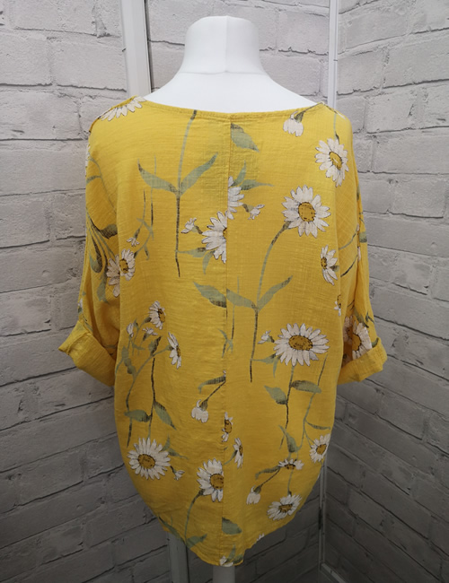 LVE Clothing - Yellow Linen Top Back