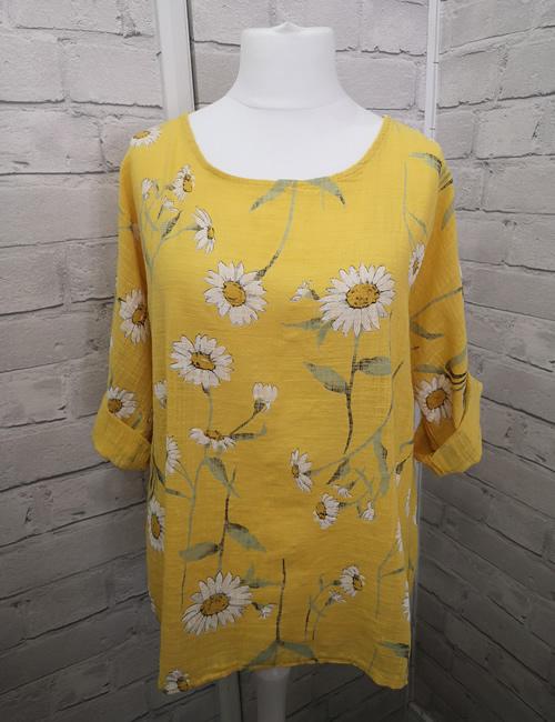 LVE Clothing - Yellow Linen Top