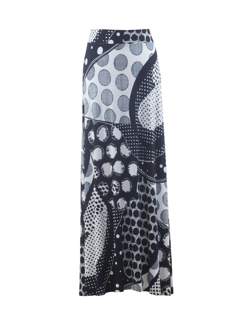Marble Navy Skirt - 5756