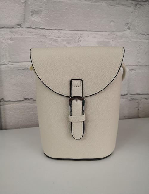 Milan Fashion -Crossbody Faux Leather Beige