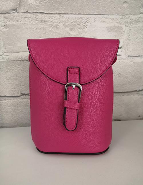Milan Fashion -Crossbody Faux Leather Fuchsia
