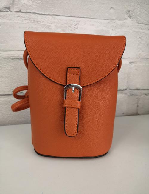 Milan Fashion -Crossbody Faux Leather Orange