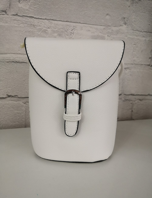 Milan Fashion -Crossbody Faux Leather White