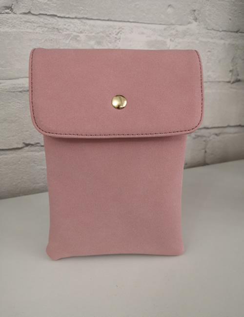 Milan Fashion -Crossbody Faux Suede Dusty pink