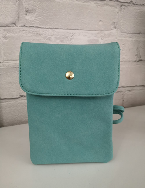 Milan Fashion -Crossbody Faux Suede Turquoise