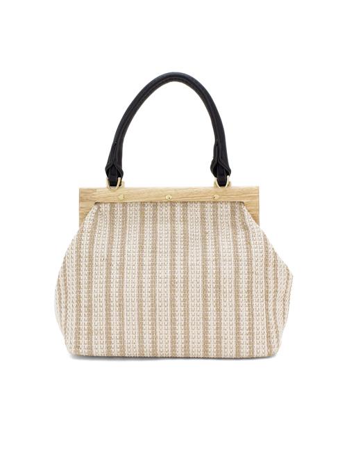 Moda - Small-Canvas-Wooden-Frame-Bag-black-back-
