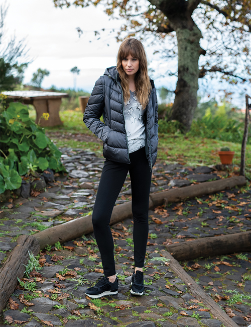 Marble -5949 - Puffer Jacket - Charcoal