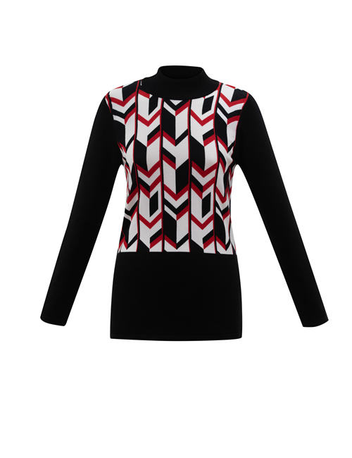 Marble - 6303 - Turtle Neck Jumper - Red
