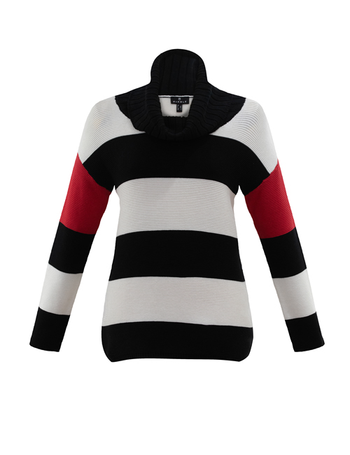 Marble - 6372 - Chunky Jumper - Red