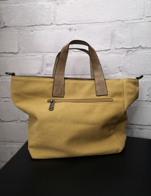 Milan Fashion -Shoulder Star Bag - Mustard Back