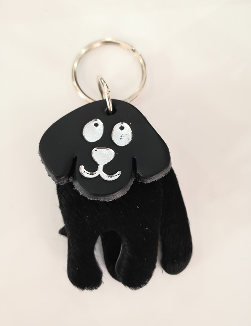 Abi Williams - Black Dog Keyring