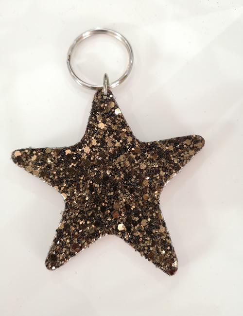 Abi Williams - Bronze Sparkle Star Keyring