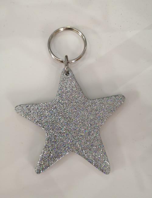 Abi Williams - Fine Silver Sparkle Star Keyring