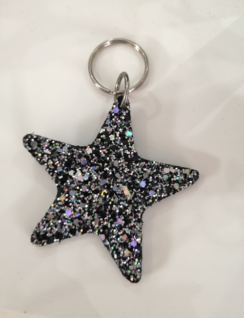 Abi Williams - Silver Sparkle Star Keyring