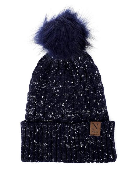 Selini New York - Speckled Pom Pom Hat - Navy